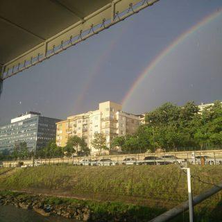 dupla szivarvany / double rainbow, #hajoznijo #portumlines #boatslife #momentsinbudapest #thisisbudapest #doublerainbow🌈🌈 #duplaszivárvány